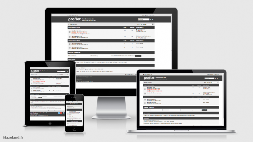 style proflat-black 1.3.0 pour phpBB 3.3.0