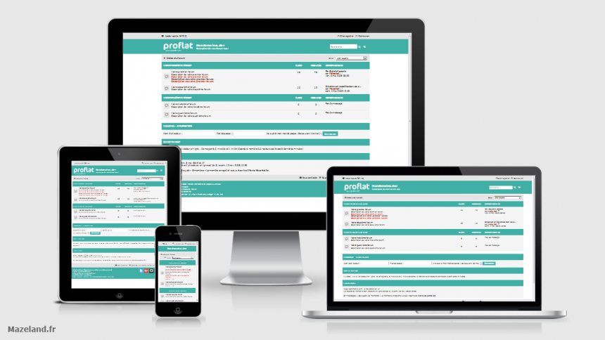 style proflat-teal 1.2.10 pour phpBB 3.2.9