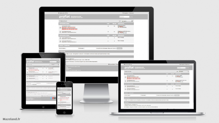 style proflat-grey 1.2.10 pour phpBB 3.2.9