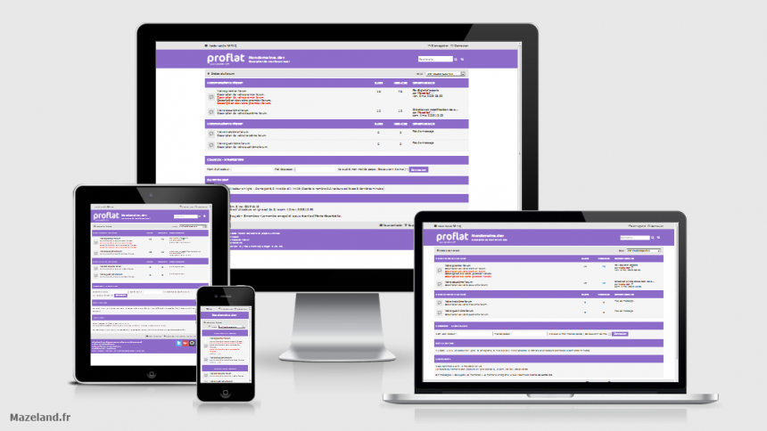 style proflat-deep-purple 1.2.10 pour phpBB 3.2.9