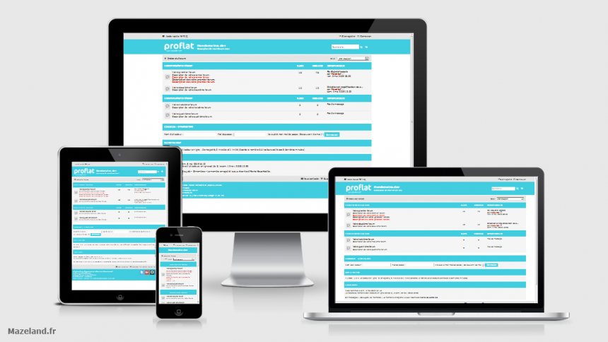 style proflat-cyan 1.2.10 pour phpBB 3.2.9