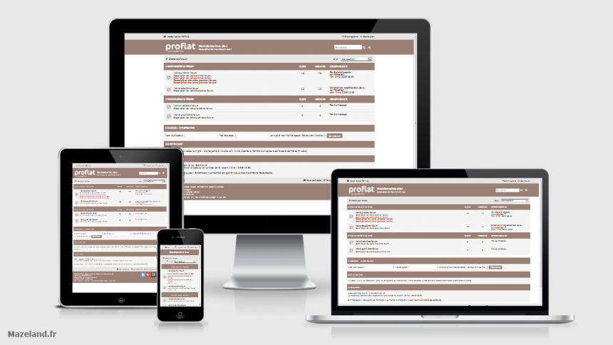 style proflat-brown 1.2.10 pour phpBB 3.2.9