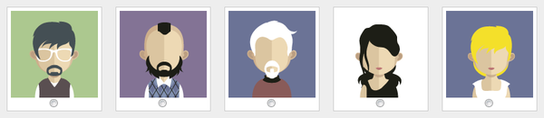 avatars personnages flat design