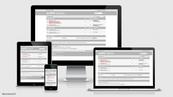style proflat grey 1.2.8 pour phpBB 3.2.7