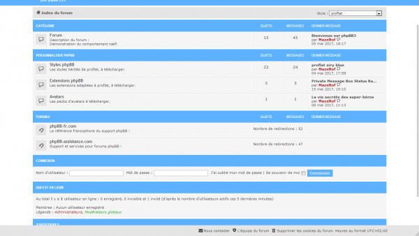 extension fixed footer navabr 1.0.3 pour proflat 1.2 pour phpBB 3.2